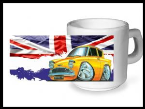 Koolart CLASSIC BRITISH Design For Retro Ford Anglia 105e - Ceramic Tea Or Coffee Mug